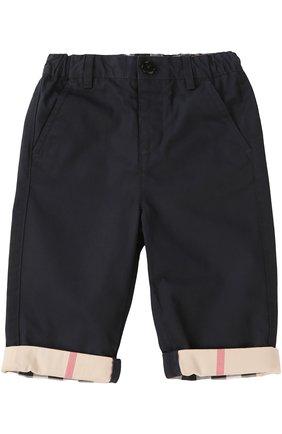 Детские брюки с эластичным поясом BURBERRY синего цвета, арт. 3907027 | Фото 1