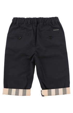Детские брюки с эластичным поясом BURBERRY синего цвета, арт. 3907027 | Фото 2