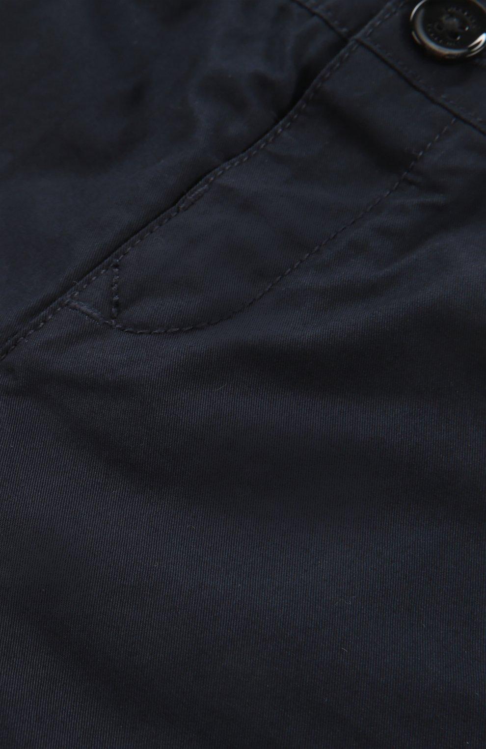 Детские брюки с эластичным поясом BURBERRY синего цвета, арт. 3907027 | Фото 3 (Материал внешний: Хлопок; Статус проверки: Проверено, Проверена категория; Ростовка одежда: 36 мес | 98 см)
