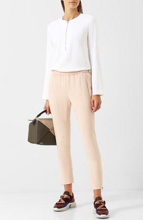Женские брюки STELLA MCCARTNEY светло-розового цвета, арт. 358300/SCA06 | Фото 2