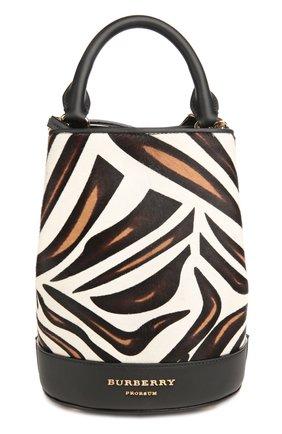 Рюкзак с отделкой из меха с принтом | Фото №1