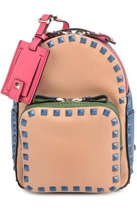 Маленький рюкзак Rockstud из комбинированной кожи | Фото №1