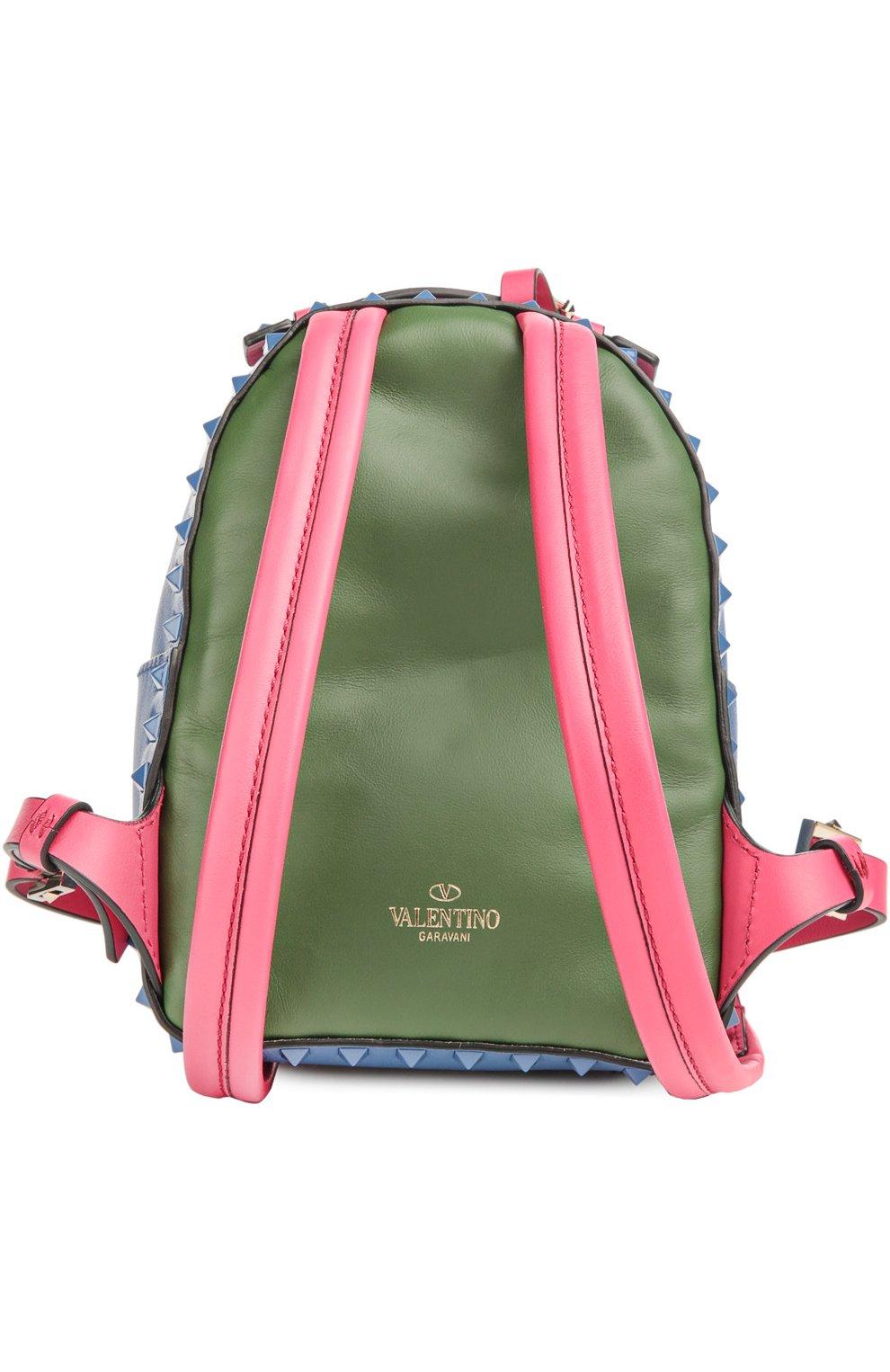 Маленький рюкзак Rockstud из комбинированной кожи | Фото №2