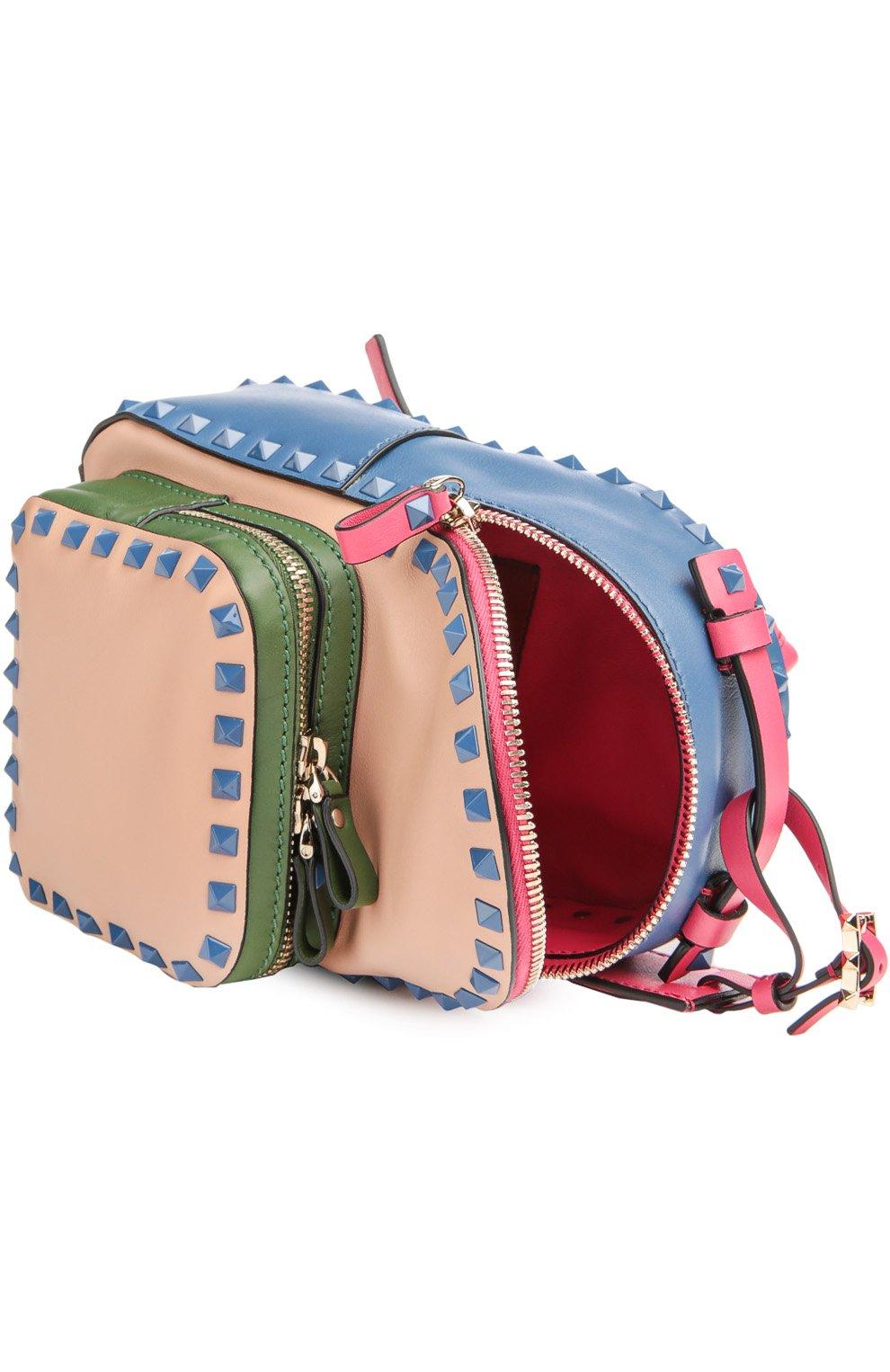 Маленький рюкзак Rockstud из комбинированной кожи | Фото №4
