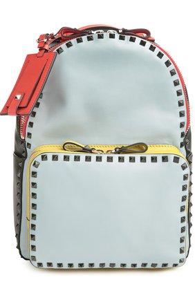 Средний рюкзак Rockstud из комбинированной кожи | Фото №1