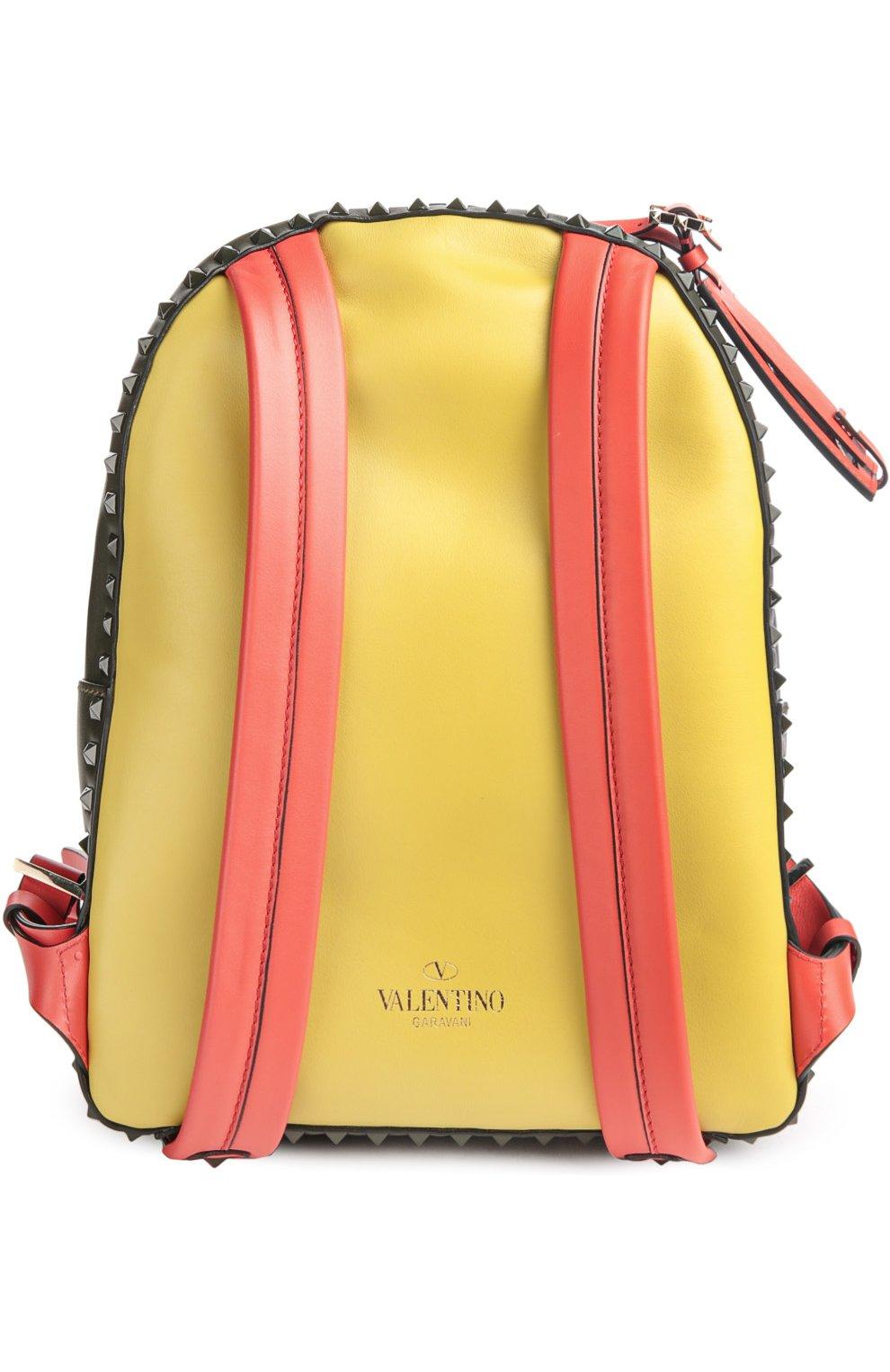 Средний рюкзак Rockstud из комбинированной кожи   Фото №2