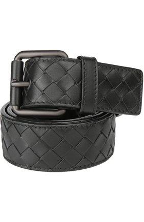Кожаный ремень с плетением intrecciato   Фото №1