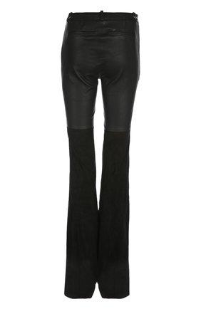 Кожаные брюки Rachel Zoe черные   Фото №1