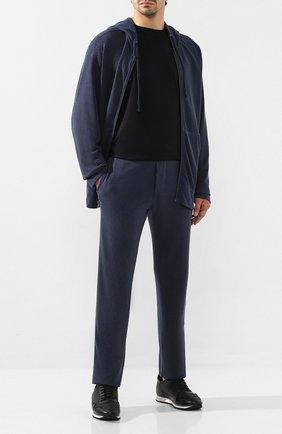 Мужские хлопковые брюки JAMES PERSE темно-синего цвета, арт. MXA1161 | Фото 2