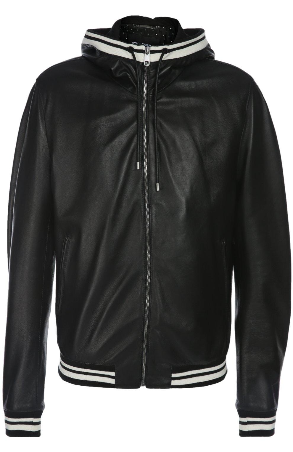 Кожаная куртка-бомбер | Фото №1