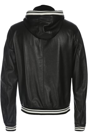 Кожаная куртка-бомбер | Фото №2