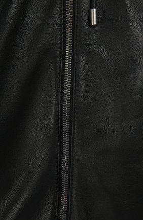 Кожаная куртка-бомбер | Фото №3