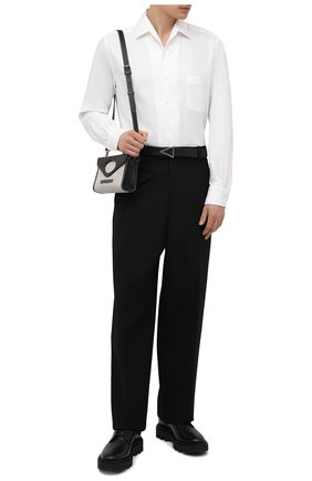 Мужская хлопковая рубашка LORO PIANA белого цвета, арт. FAD3172   Фото 2