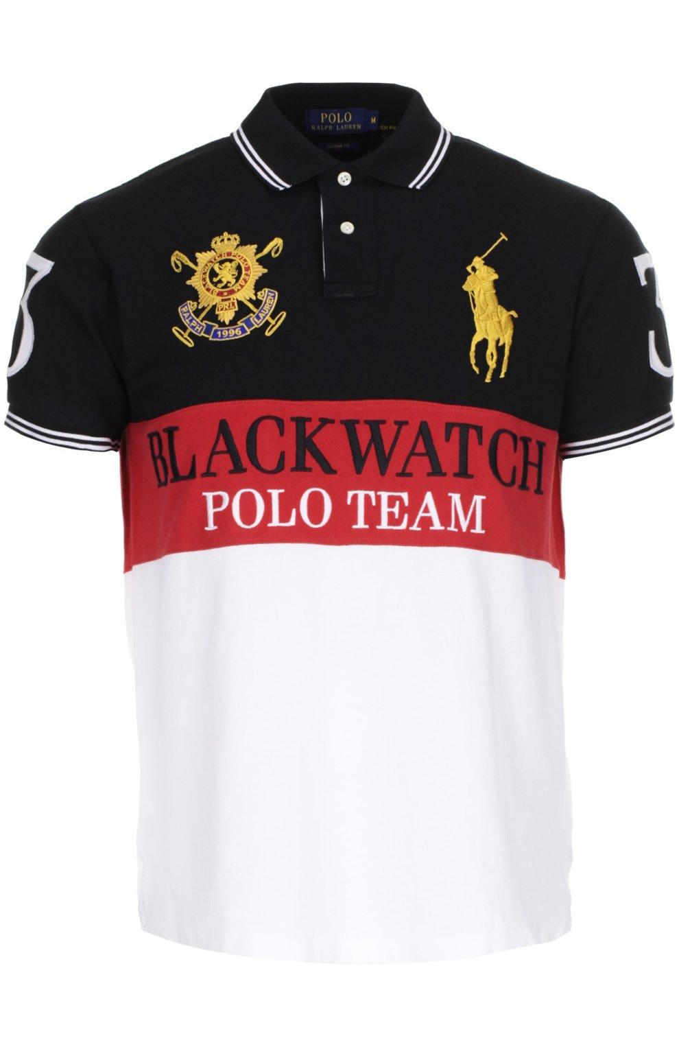 Мужское черно-белое поло джерси POLO RALPH LAUREN — купить за 16000 ... 58987165b09cb