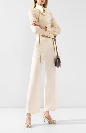 Женская текстильные туфли rainbow lace DOLCE & GABBANA оранжевого цвета, арт. 0112/CD0066/AL198 | Фото 2