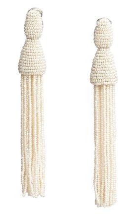 Женские клипсы OSCAR DE LA RENTA белого цвета, арт. 0J101IVR | Фото 1