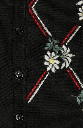 Вязаный кардиган REDVALENTINO черный | Фото №3