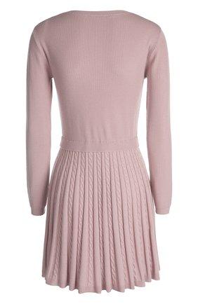 Вязаное платье REDVALENTINO светло-розовое   Фото №2