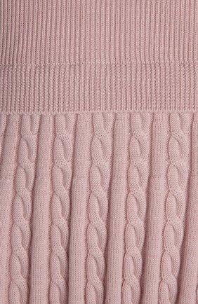 Вязаное платье REDVALENTINO светло-розовое   Фото №3