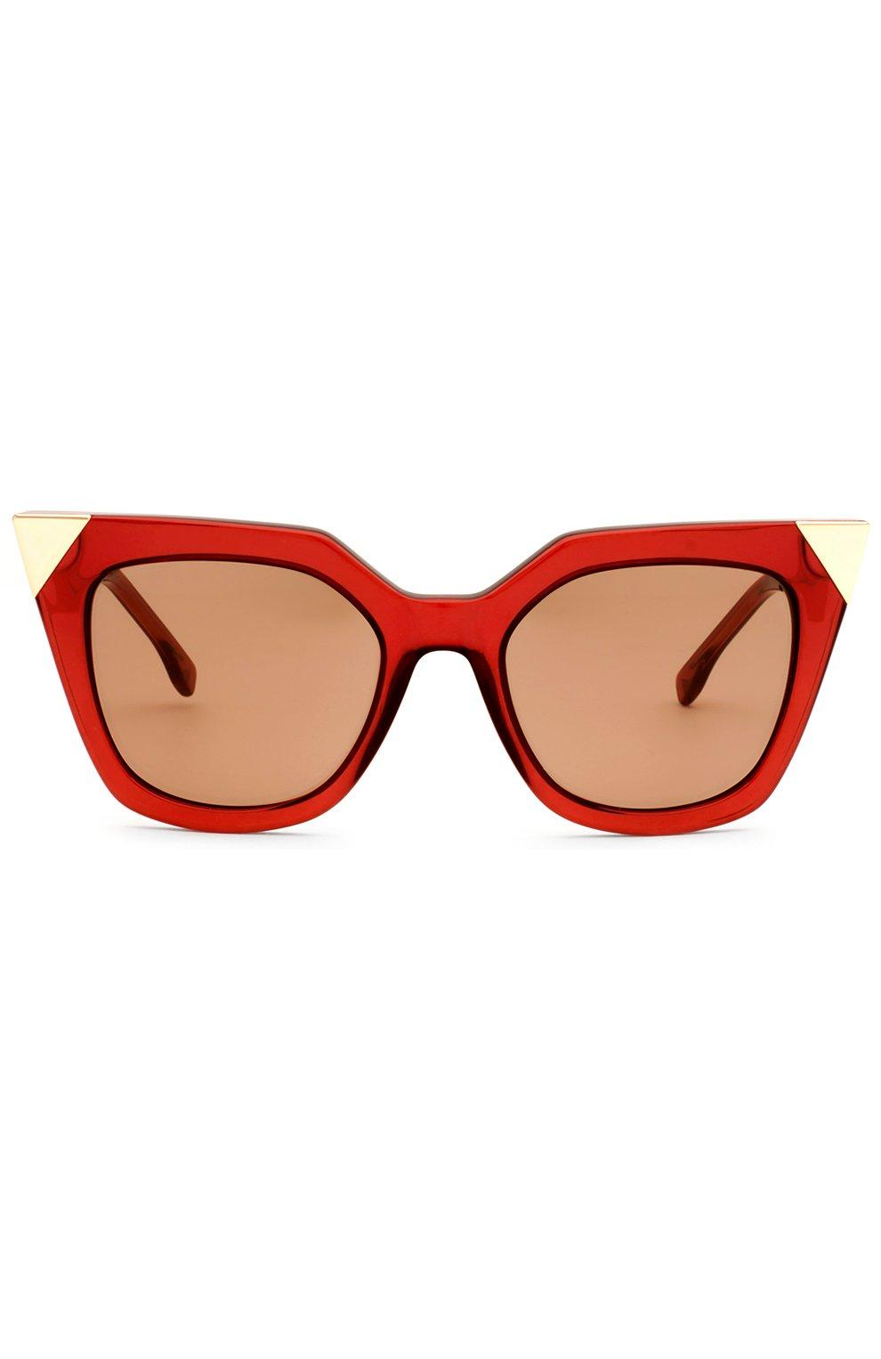 Женские солнцезащитные очки FENDI красного цвета, арт. 0060 N9M | Фото 1