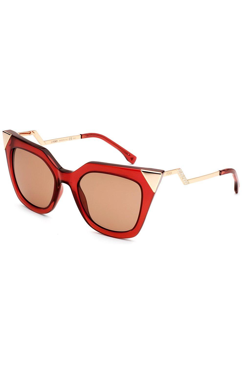 Женские солнцезащитные очки FENDI красного цвета, арт. 0060 N9M | Фото 2