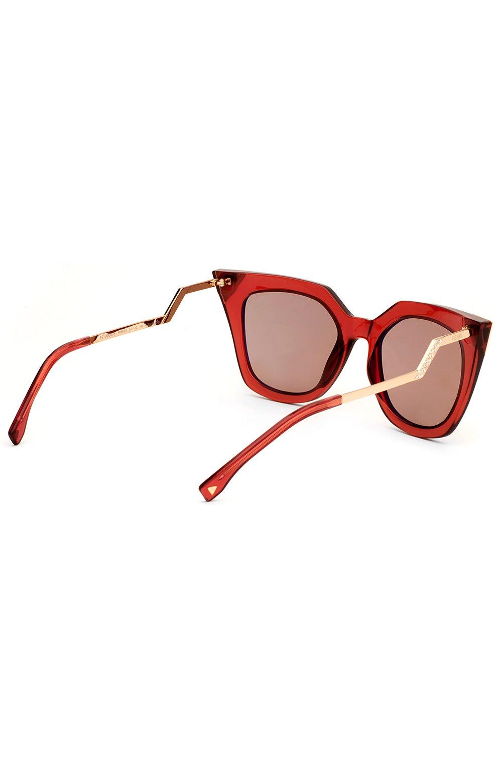 Женские солнцезащитные очки FENDI красного цвета, арт. 0060 N9M | Фото 3