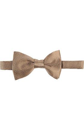Мужской галстук LANVIN золотого цвета, арт. 2353 | Фото 1