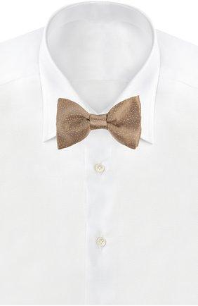 Мужской галстук LANVIN золотого цвета, арт. 2353 | Фото 2