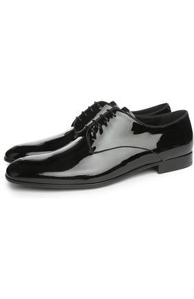 Мужской туфли GIORGIO ARMANI черного цвета, арт. X2C055/XC882 | Фото 2