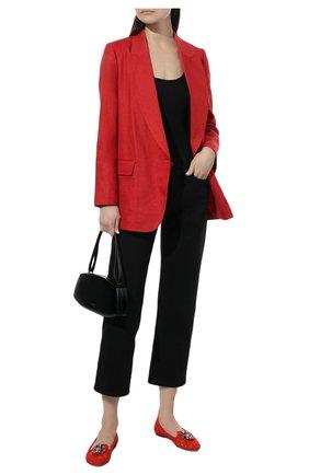Женские текстильные слиперы rainbow lace DOLCE & GABBANA красного цвета, арт. 0112/CP0010/AL198 | Фото 2