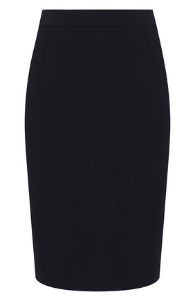 Женская шерстяная юбка BOSS синего цвета, арт. 50291813 | Фото 1
