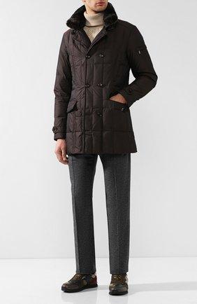 Куртка с воротником Moorer коричневая | Фото №1