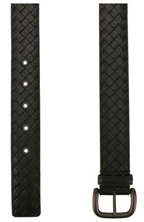 Мужской кожаный ремень BOTTEGA VENETA черного цвета, арт. 173784/V4650 | Фото 2