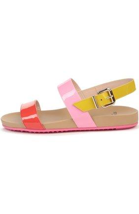 Лаковые цветные сандалии | Фото №1
