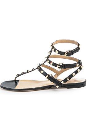 Кожаные сандалии Valentino Garavani Rockstud с ремешками | Фото №1