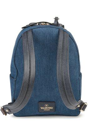Рюкзак из денима с вышивкой | Фото №2