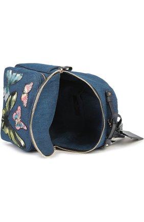 Рюкзак из денима с вышивкой | Фото №4