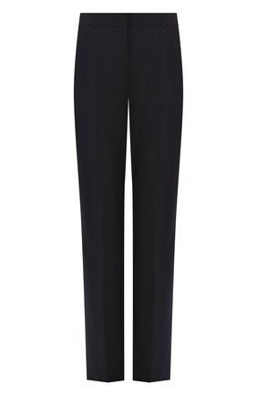 Женские шерстяные брюки BOSS синего цвета, арт. 50291873 | Фото 1