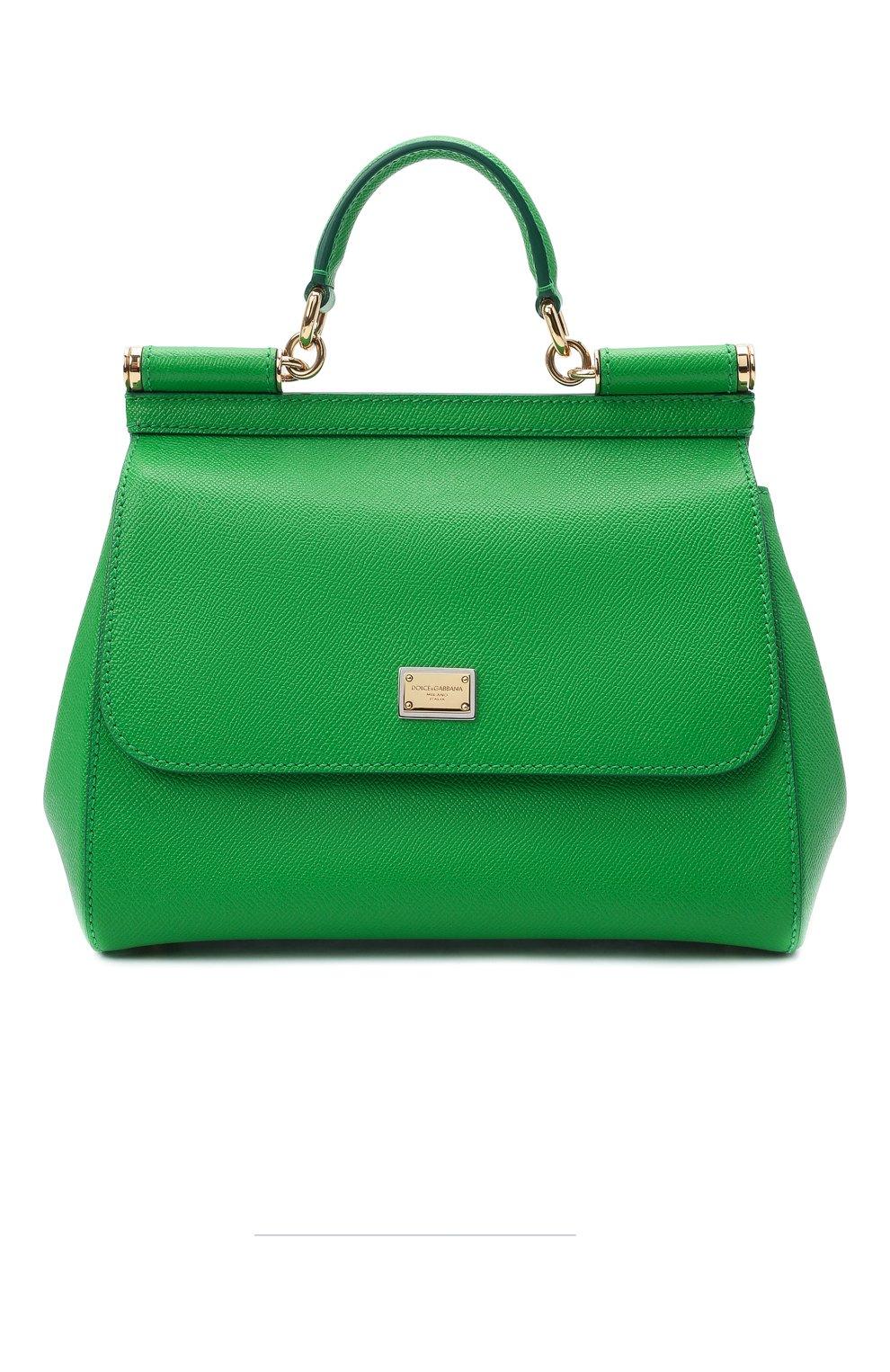 Женская сумка sicily medium DOLCE & GABBANA зеленого цвета, арт. 0116/BB6002/A1001 | Фото 1