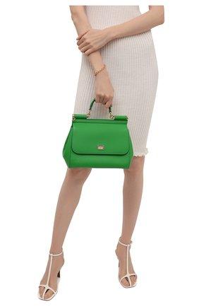 Женская сумка sicily medium DOLCE & GABBANA зеленого цвета, арт. 0116/BB6002/A1001 | Фото 2