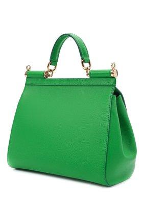 Женская сумка sicily medium DOLCE & GABBANA зеленого цвета, арт. 0116/BB6002/A1001 | Фото 3