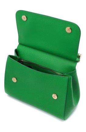 Женская сумка sicily medium DOLCE & GABBANA зеленого цвета, арт. 0116/BB6002/A1001 | Фото 4