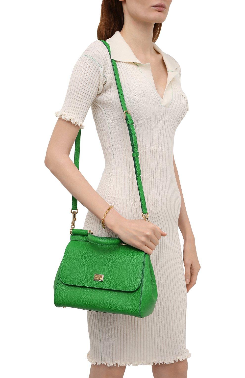 Женская сумка sicily medium DOLCE & GABBANA зеленого цвета, арт. 0116/BB6002/A1001 | Фото 5