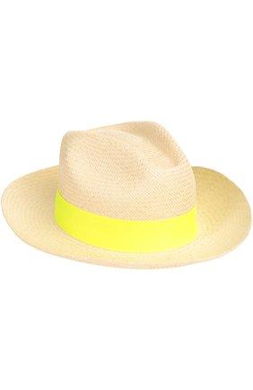 Шляпа пляжная Artesano желтого цвета | Фото №1