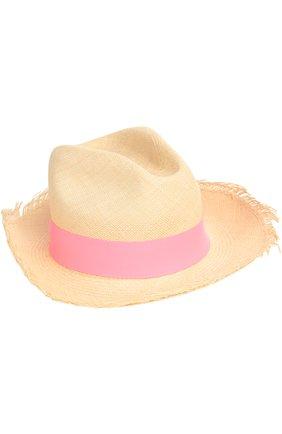Шляпа пляжная Artesano розового цвета | Фото №1
