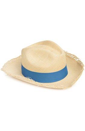 Шляпа пляжная Artesano голубого цвета | Фото №1