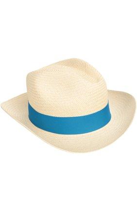 Шляпа пляжная Artesano синего цвета | Фото №1
