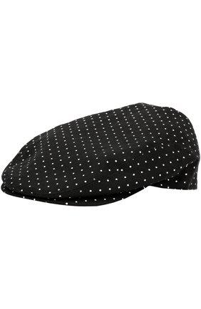 Хлопковое кепи с узором polka dot | Фото №1