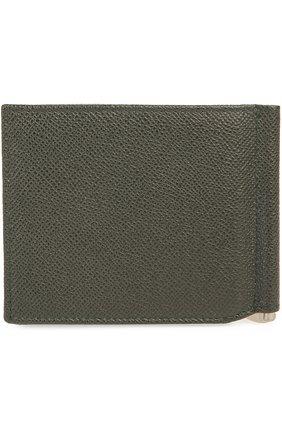Мужской кожаный зажим для денег DOLCE & GABBANA болотного цвета, арт. 0115/BP1920/A1001 | Фото 2