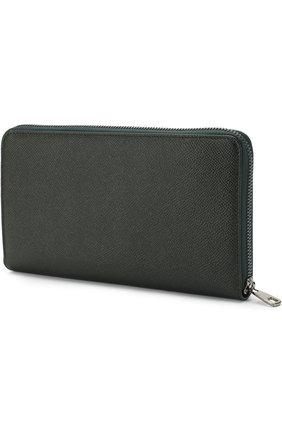 Мужская кожаный футляр для документов на молнии DOLCE & GABBANA темно-зеленого цвета, арт. 0115/BP1517/A1001 | Фото 2